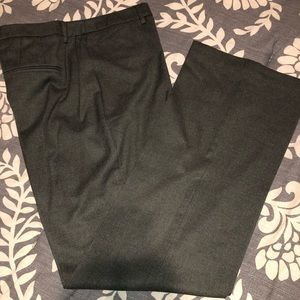 Ladies dress slacks -gray-green color